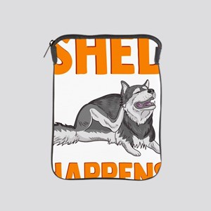 Cute & Funny Shed Happens Siberian iPad Sleeve