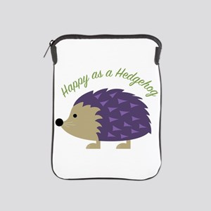 Happy As Hedgehog iPad Sleeve