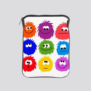 nine rainbow fuzzys iPad Sleeve