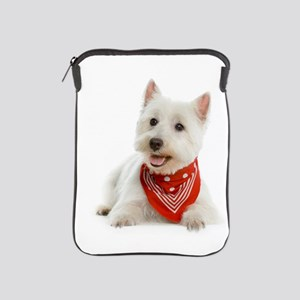 Westie Dog W/Red Bandana iPad Sleeve