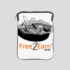 Fishing and Free 2 Earn 4Ever iPad Sleeve