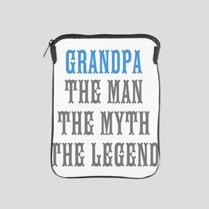 Grandpa The Man Myth Legend iPad Sleeve