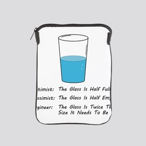 Optimist pessimist engineer iPad Sleeve