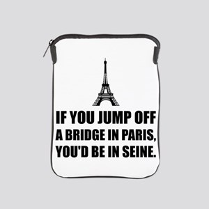 Paris Bridge In Seine iPad Sleeve