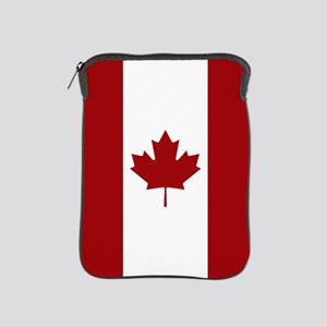 Canada: Canadian Flag (Red & White) iPad Sleeve
