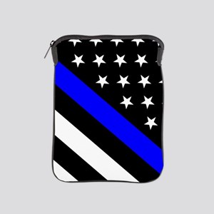Police Flag: Thin Blue Line iPad Sleeve