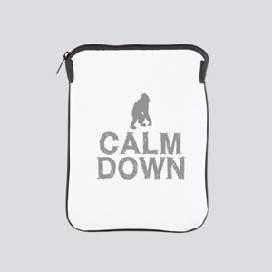 Calm Down. Grey Monkey Design iPad Sleeve