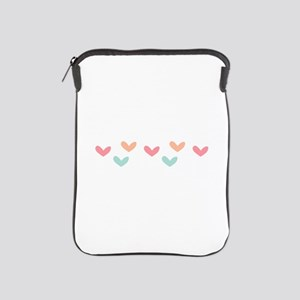 Hearts Border iPad Sleeve