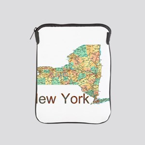 Map of New York State 2 iPad Sleeve