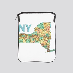 Map of New York State 6 iPad Sleeve