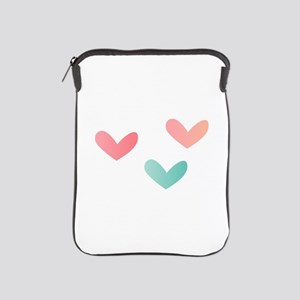 Multicolored Hearts iPad Sleeve