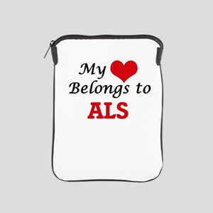My Heart Belongs to Als iPad Sleeve