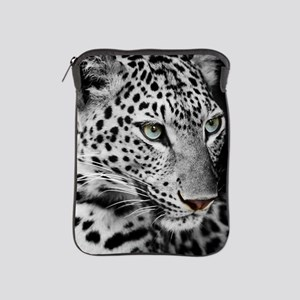 White Leopard iPad Sleeve