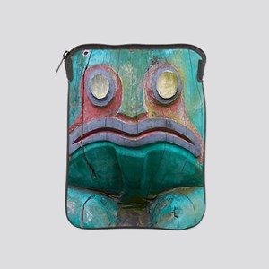 Totem Pole Frog iPad Sleeve