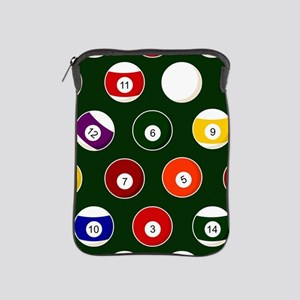 Green Pool Ball Billiards Pattern iPad Sleeve