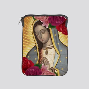 Virgin of Guadalupe with Roses iPad Sleeve