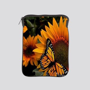 Sunflower Radiance Monarch Butterfly iPad Sleeve