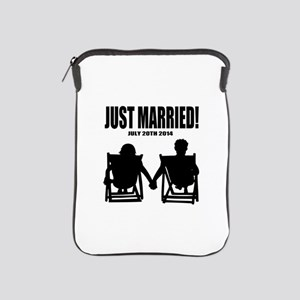 Just Married | Personalized wedding iPad Sleeve
