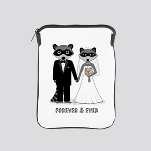 Raccoons Wedding iPad Sleeve