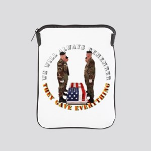 We Will Always Remember iPad Sleeve