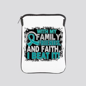 Ovarian Cancer Survivor FamilyFriendsF iPad Sleeve