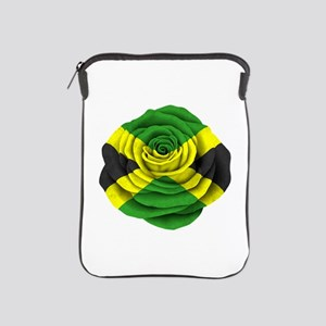 Jamaican Rose Flag On Pink Ipad Sleeve