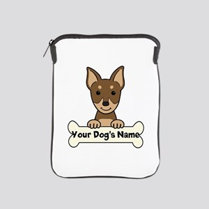Personalized Min Pin iPad Sleeve