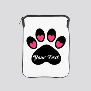 Personalizable Paw Print iPad Sleeve