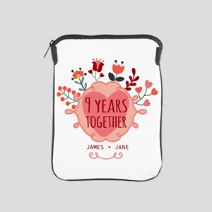 Personalized 9th Anniversary iPad Sleeve