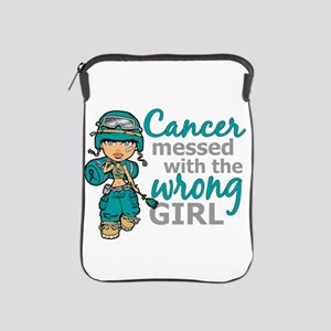 Combat Girl Ovarian Cancer iPad Sleeve