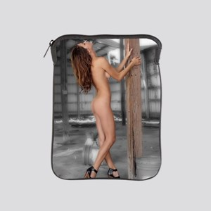 Beautiful Nude Brunette in an Abandone iPad Sleeve