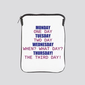 Monday One Day iPad Sleeve