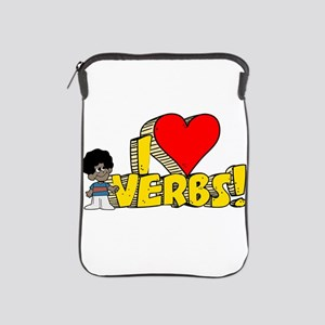 I Heart Verbs - Schoolhouse R iPad Sleeve