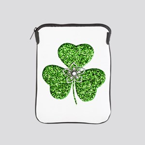 Glitter Shamrock With A Flower iPad Sleeve