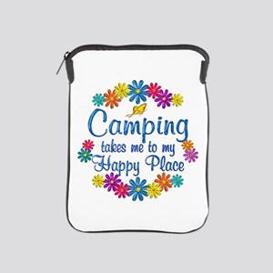 Camping Happy Place iPad Sleeve