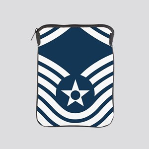 USAF-SMSgt-Old-Blue-4-Inches iPad Sleeve