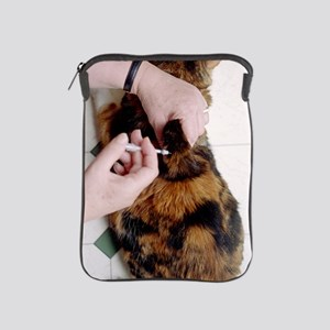 Cat insulin injection iPad Sleeve