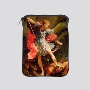 Archangel Michael Defeating Satan iPad Sleeve
