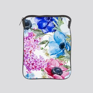 Chic Watercolor Floral Pattern iPad Sleeve