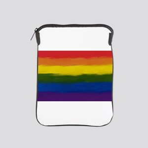 GAY PRIDE RAINBOW FLAG PAINT ART SIGNE iPad Sleeve