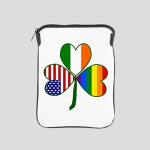 Gay Pride Shamrock iPad Sleeve