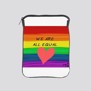 We are all equal heart iPad Sleeve