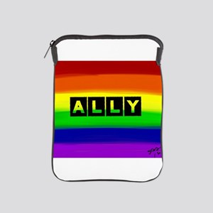ALLY gay rainbow art iPad Sleeve