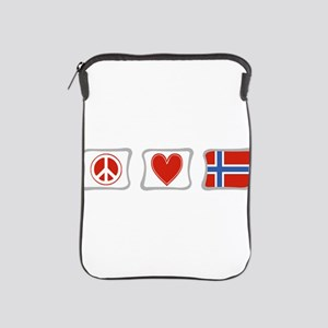 Peace, Love and Norway iPad Sleeve