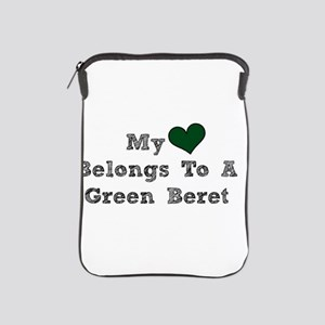 My Heart Belongs To A Green Beret iPad Sleeve