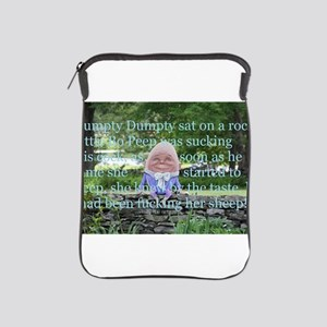 Adult Humor Nursery Rhyme iPad Sleeve