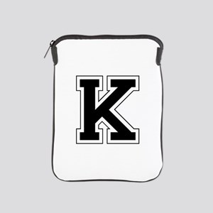 Collegiate Monogram K iPad Sleeve