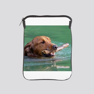 Happy Retriever Dog iPad Sleeve
