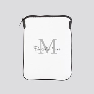 Monogrammed Duvet Cover iPad Sleeve