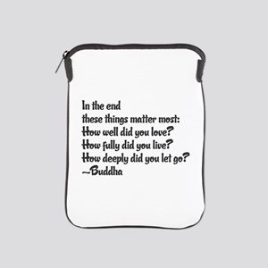 Buddhist Quote: 3 things iPad Sleeve